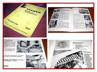 Eicher 365 Schlepper Betriebsanleitung 1977