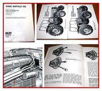 Same Buffalo 120 + Allrad Betriebsanleitung 1976