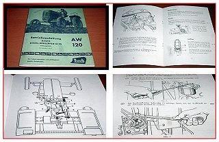 Bautz AW 120 Betriebsanleitung Schlepper 1957