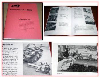 Bautz 300 Bedienungsanleitung 1959