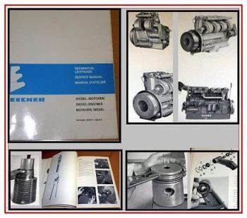Eicher EDK1 - EDK6 Werkstatthandbuch Reparaturanleitung Dieselmotor 1974