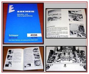 Eicher 4038, Eicher 3155 Betriebsanleitung 1978