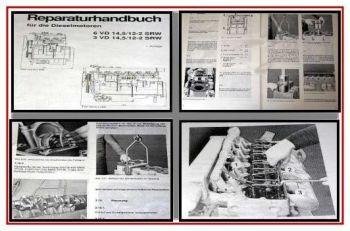 3 + 6VD 14,5/12-2 SRW Dieselmotor Reparaturhandbuch