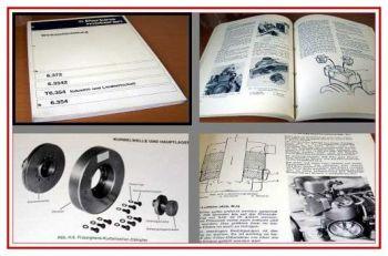 Perkins 6.372, 6.3542, 6.354 Werkstatthandbuch 1974