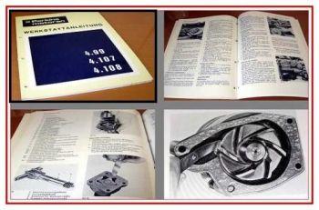 Reparaturanleitung Perkins 4.99, 4.107, 4.108 Werkstatthandbuch 1973