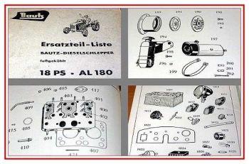 Bautz AL 180 Ersatzteilliste 1958