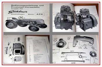 Güldner AZK Betriebsanleitung + Ersatzteilliste 1957