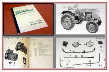 Güldner A15, AF15, AF20, ADA Ersatzteilliste 1958