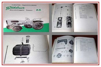 Güldner AX Dieselschlepper Ersatzteilliste 1957