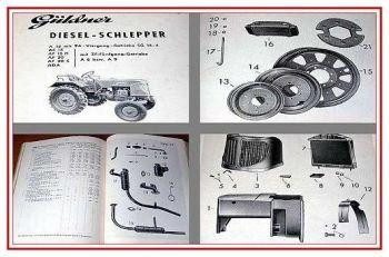 Güldner A15, AF15, AF20, ADA Ersatzteilliste 50er J.