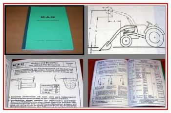 Werkstatthandbuch MAN Schlepper Technik Daten Handbuch 1963
