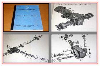ZF A-210 Traktor Getriebe Bedienung + Ersatzteilliste + Montageanleitung