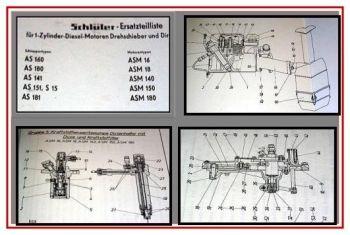 Schlüter AS160, 180, 141, 151, 181, S15 Ersatzteilliste