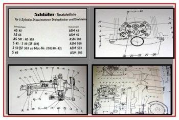 Schlüter AS45, 55, 501, 502, S45, 50,60 Ersatzteilliste