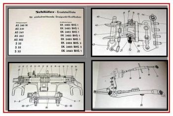 Schlüter AS 240N, 241, 261,262,302, S35 Ersatzteilliste