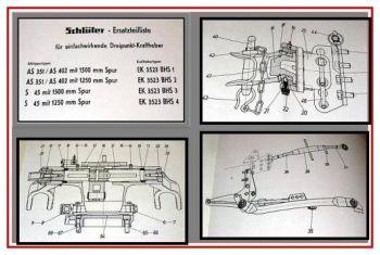 Schlüter AS 351, 402, S45 Ersatzteilliste 1963