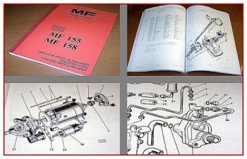 Massey Ferguson MF 155, MF 158 Ersatzteilkatalog 1977
