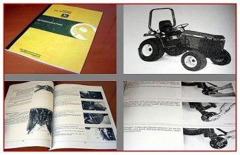 John Deere 655, 755, 855 Traktor Betriebsanleitung
