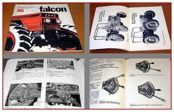 Betriebsanleitung Same Falcon + DT Bedienung & Instandhaltung 1975
