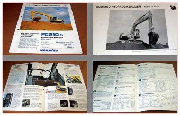 Komatsu PC210-5 PC210LC-5 Bagger Prospekt 90er J.