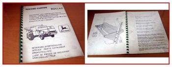John Deere X40 - X70 Häcksler Anbauanl. Ersatzteilliste
