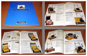 Stiga BB800 - Silent Verkaufsprogramm 1977