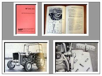 Massey Ferguson MF 245 8G Traktor Betriebsanleitung