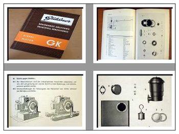Güldner GK Dieselmotor Bedienung & Ersatzteilliste