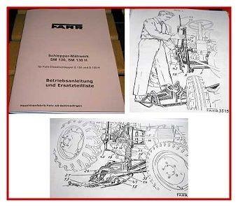 Fahr D130 + D130H Schlepper Mähwerk Handbuch