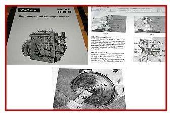 Reparaturanleitung Holder HD2 & HD3 Motor Werkstatthandbuch 1968
