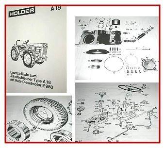 Holder A18 Schlepper Allrad Ersatzteilliste 1975