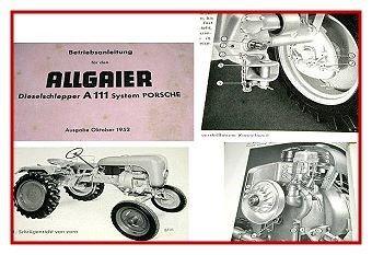 Allgaier A111 System Porsche Betriebsanleitung 1952