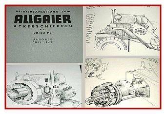 Allgaier R22 Ackerschlepper Betriebsanleitung 1949