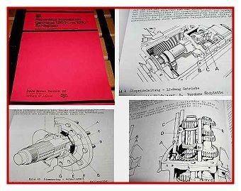 David Brown 1200 1210 Werkstatthandbuch Getriebe 1974