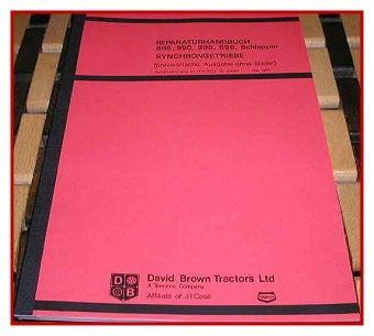 David Brown 885 990 995 996 Werkstatthandbuch Getriebe