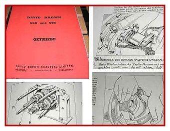 David Brown 950 & 990 Wartungsanleitung Getriebe
