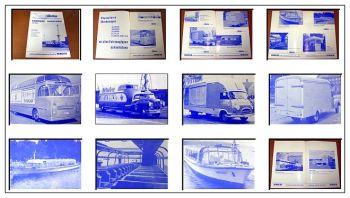 Buhne Berlin Karosseriebau Büssing Hanomag Mercedes Bus Prospekt 1960