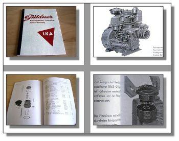 Güldner LKA Dieselmotor Bedienungsanleitung & Ersatzteilliste