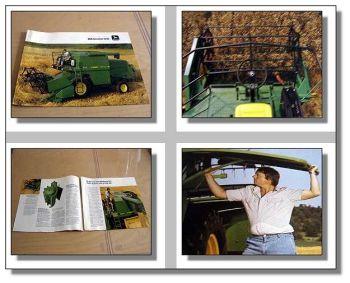 John Deere 1042 Mähdrescher Prospekt ca 1984
