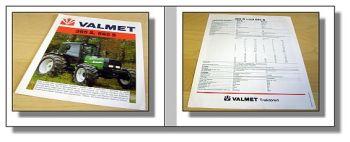 Valmet 365S + 665S Traktor Prospekt 1993