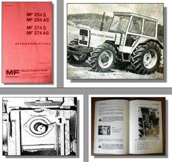 Massey Ferguson MF 254S 254AS 274S 274AS Traktor Betriebsanleitung