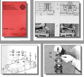 Steyr 8080 8080A Reparaturhandbuch Getriebe TW 357