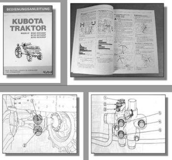 Kubota B1550 1750 2150 / HST Traktor Betriebsanleitung