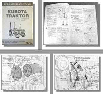 Kubota L2550 L2550 L2850 Traktor Betriebsanleitung