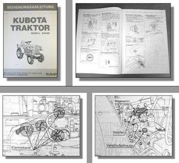 Kubota B4200D Traktor Betriebsanleitung Bedienung Wartung Schaltplan