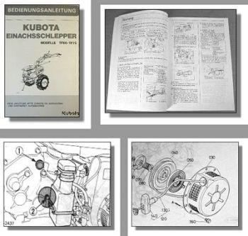 Kubota TF65 TF75 Einachsschlepper Betriebsanleitung