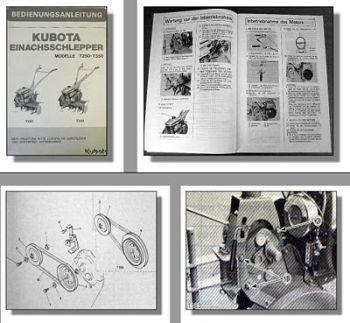 Kubota T250 T350 Einachsschlepper Betriebsanleitung