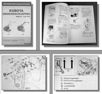 Kubota TF40 TF55 Einachsschlepper Betriebsanleitung