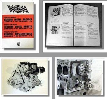 Kubota ZB500C-1-B ZB600C-1-B Werkstatthandbuch Motor