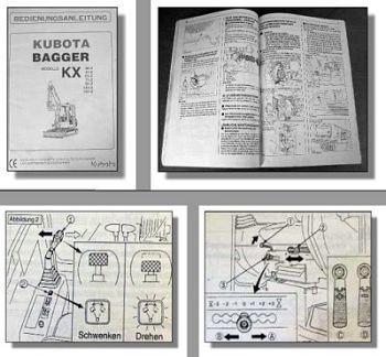 Kubota KX 36-2, 41-2, 61-2, 71-2, 91-2, 121-2, 161-2 Bagger Betriebsanleitung